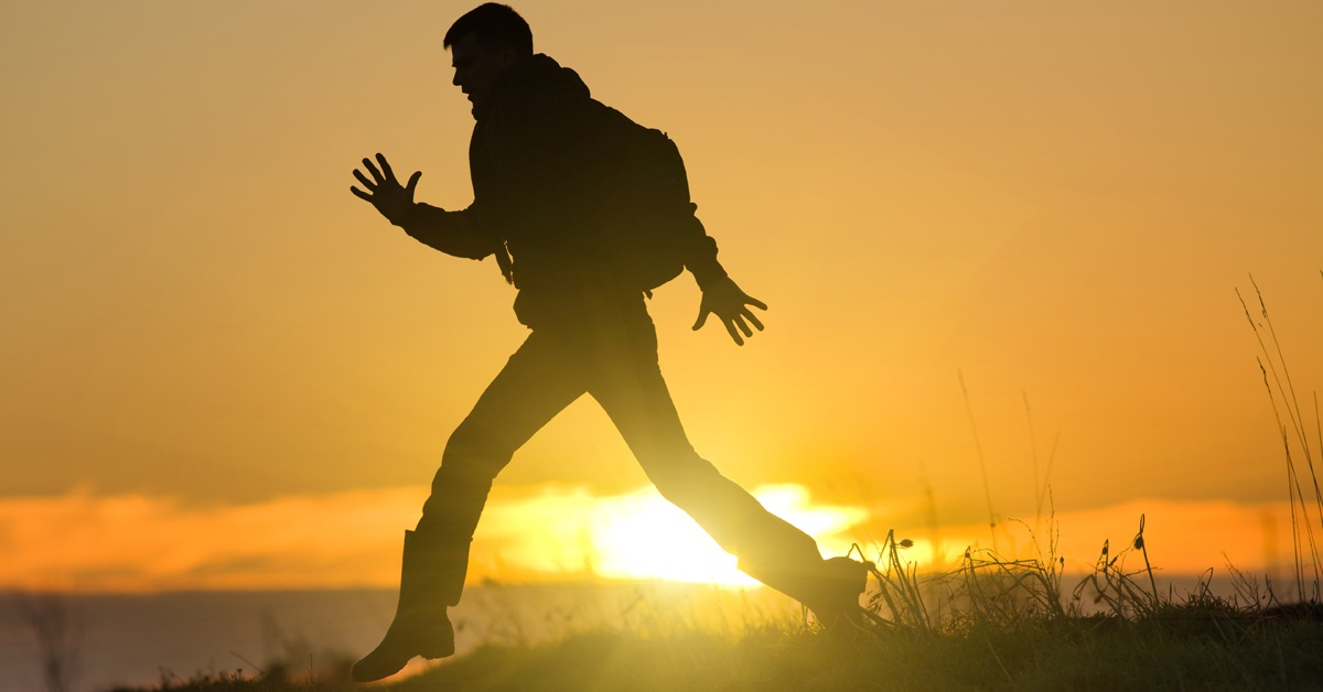silhouette man running | SFNF Project Update | Accelerating Bible Translation