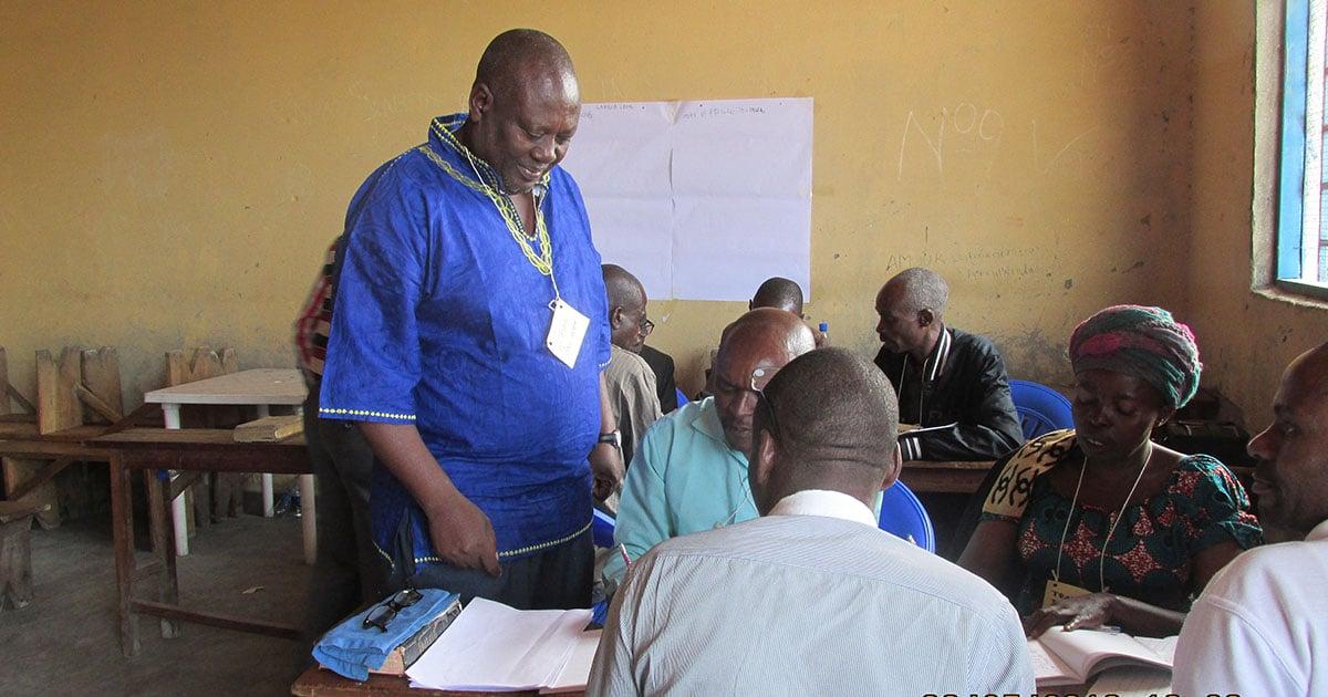 Translators at a DRC MAST Workshop