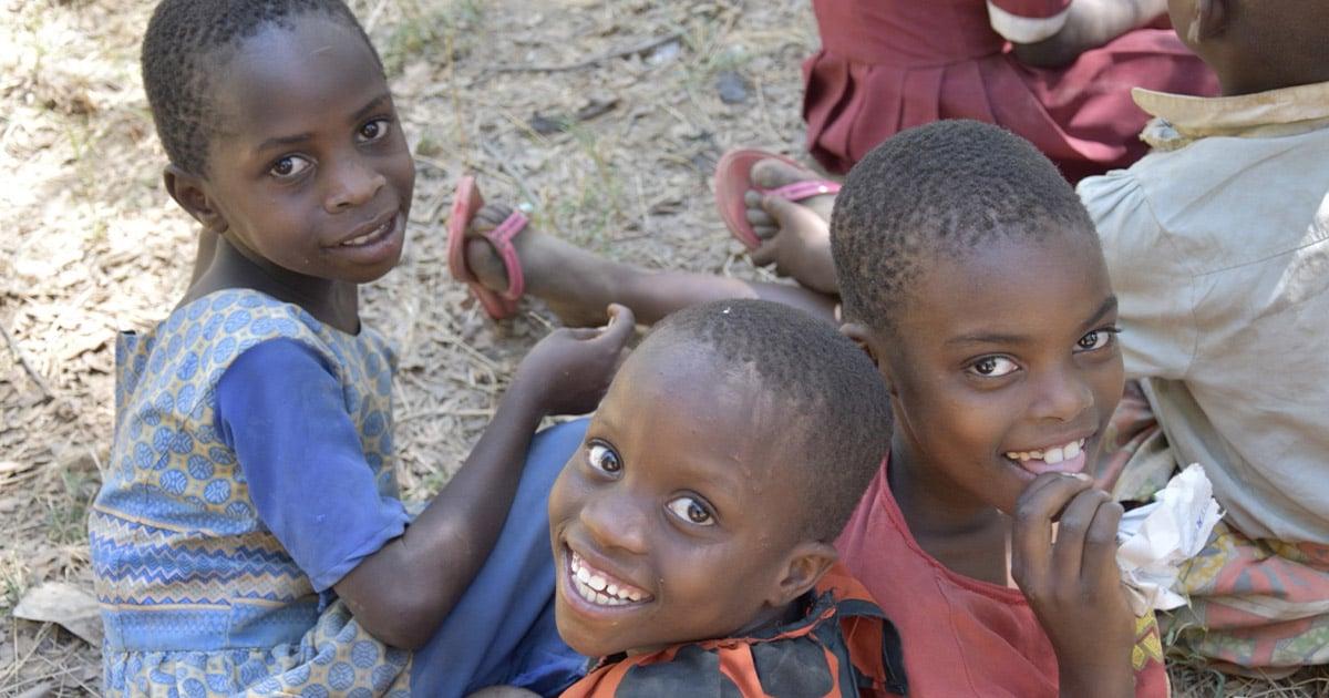 Tanzanian children smiling