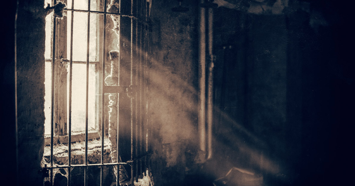 Prison Cell with Barred Windows