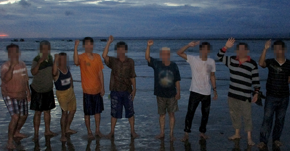 Baptism in the Indian Ocean