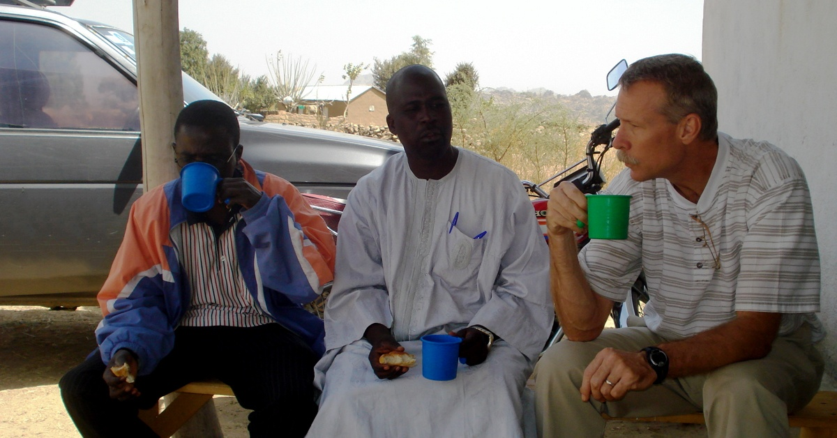 Photo of Bruce with church leaders