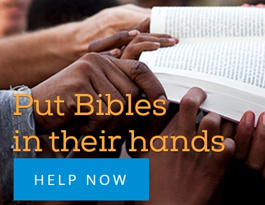 Put Bibles in their hands... help now!