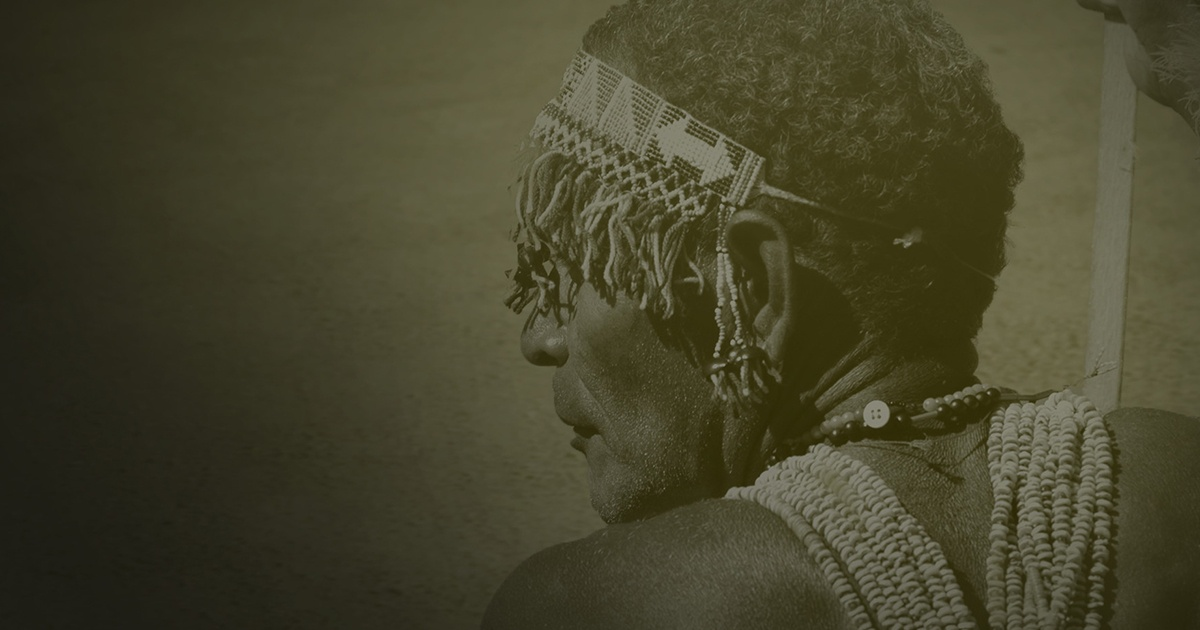 Indigenous man from a Bibleless language group