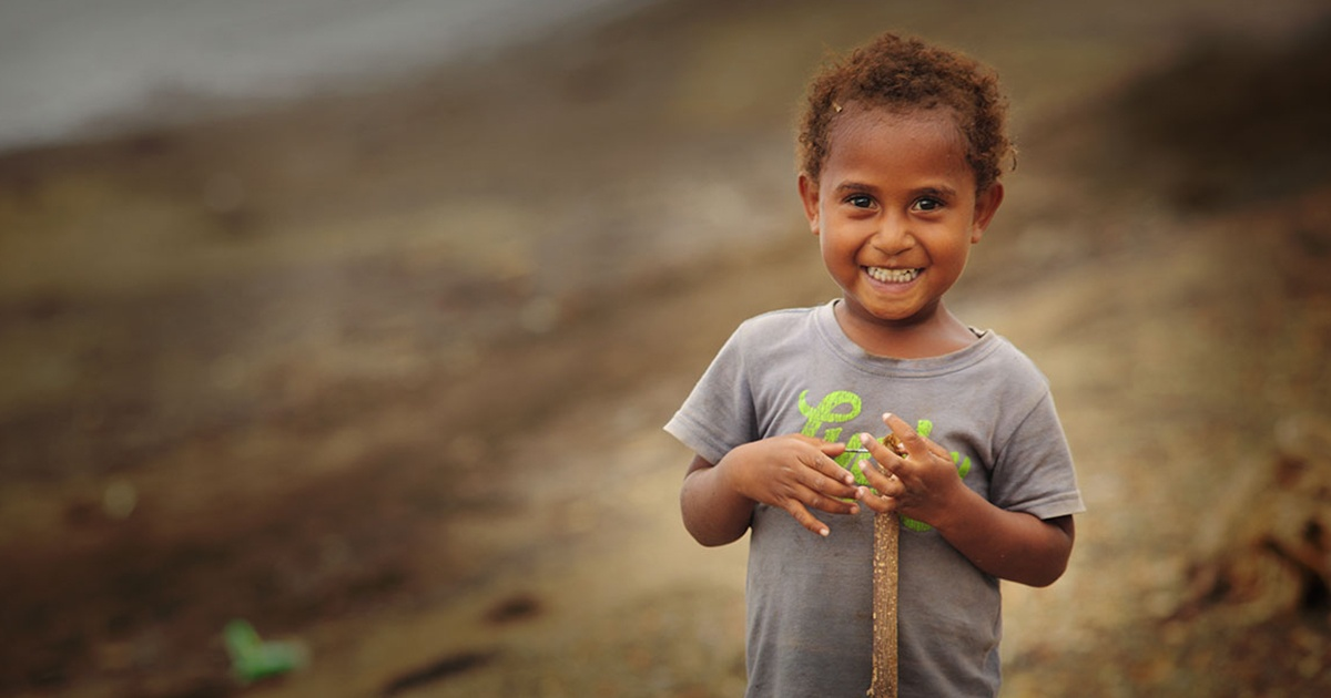 Boy in Papua New Guinea