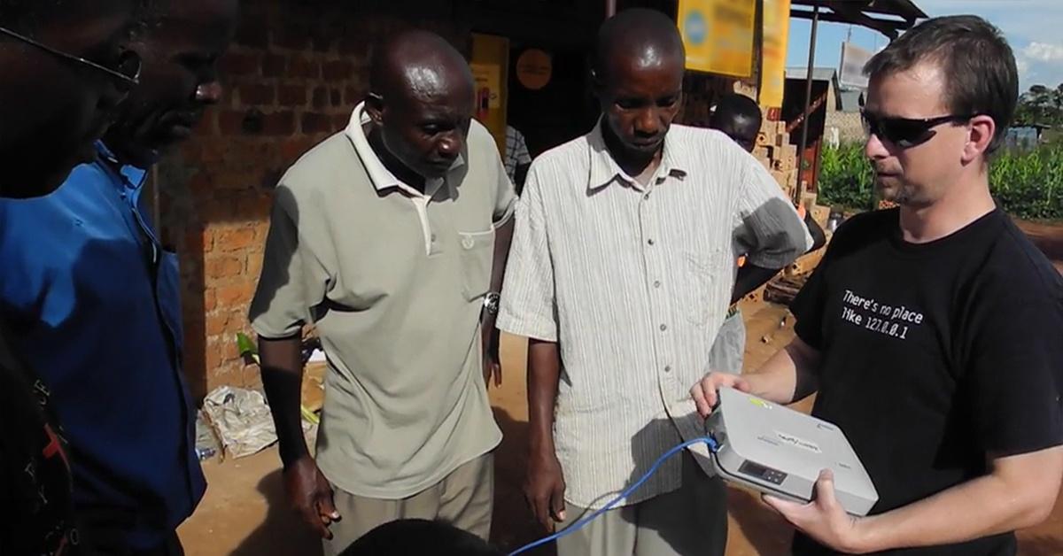Tech Advance specialist training translators in satellite internet installation