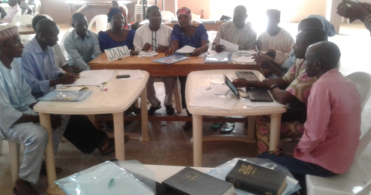 Nigerian Bible translators at work