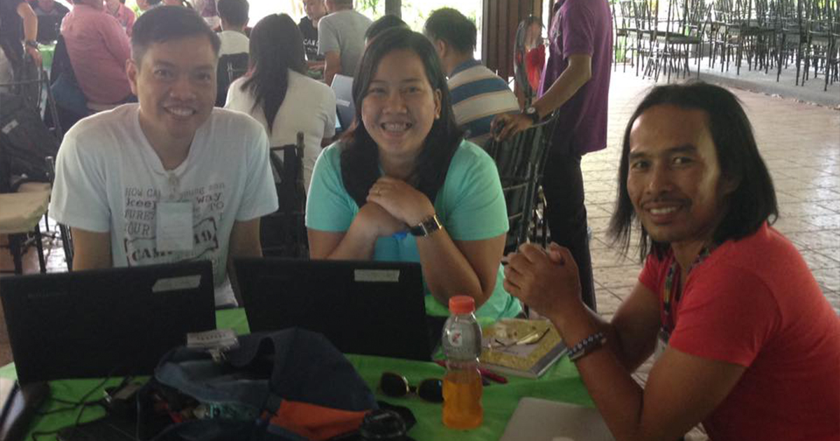 Translators in the Phillipines, where the team can now run their own workshops