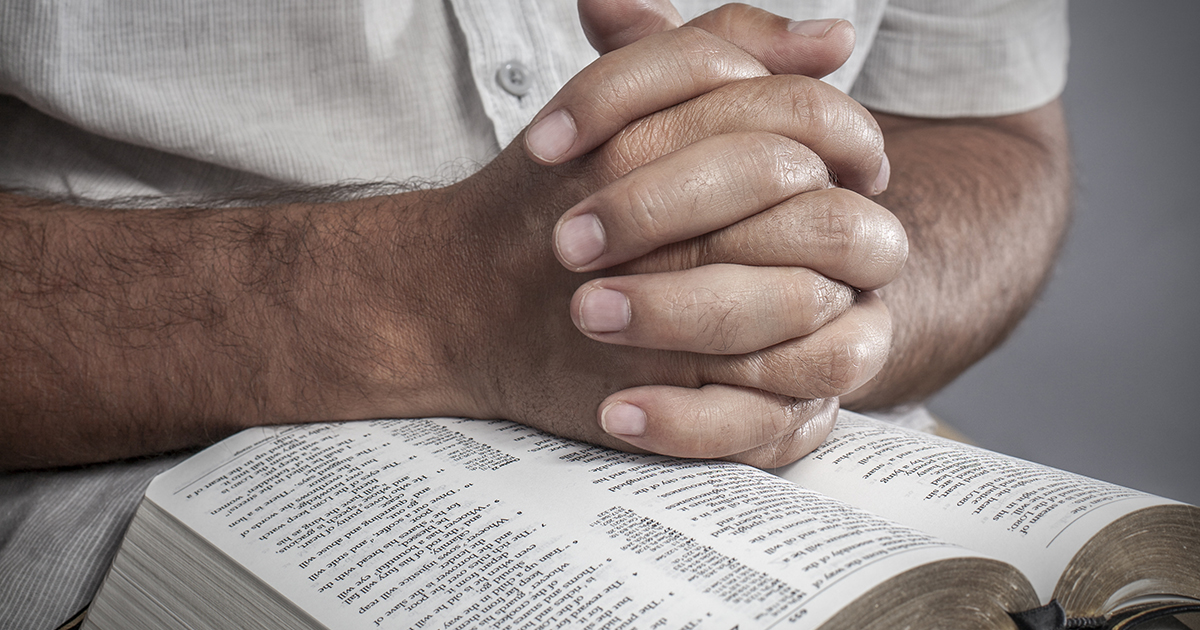 blog banner - man bible praying