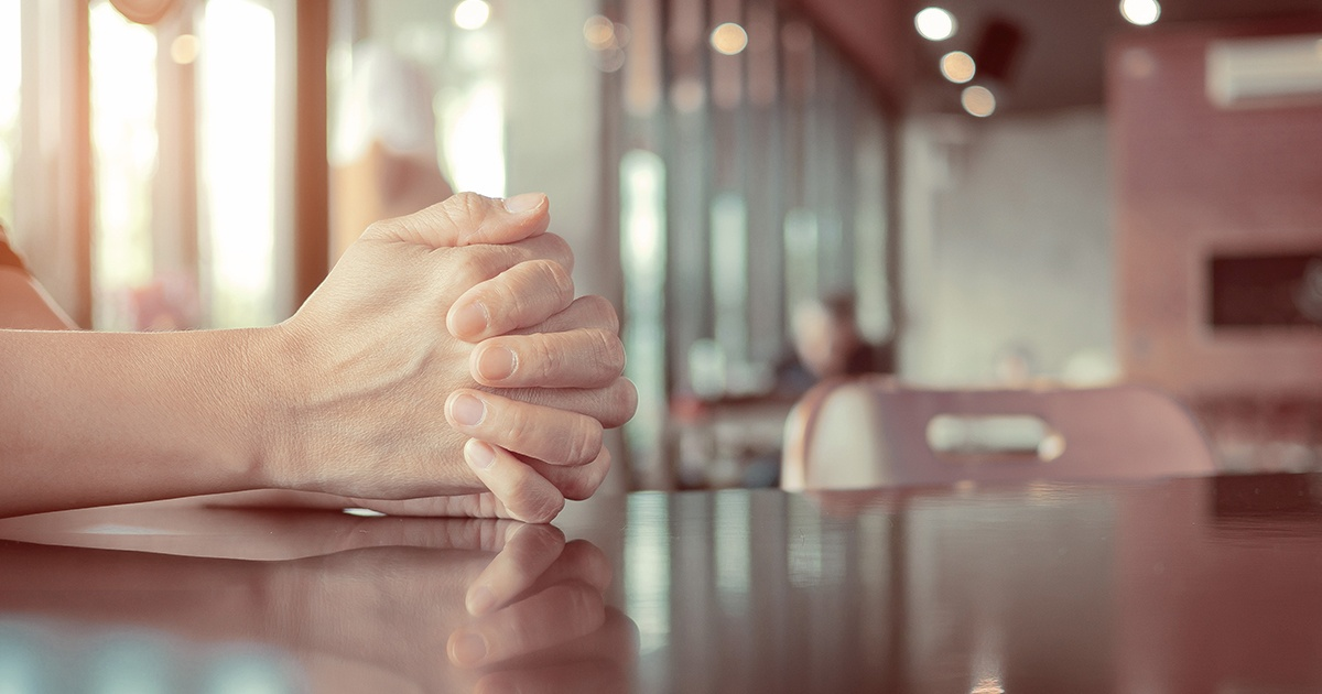 praying hands modern cafe - 1200