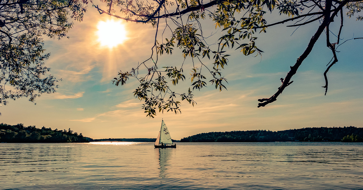 A sailboat reminds us of the Holy Spirit's ability to fill us with joy and motivation