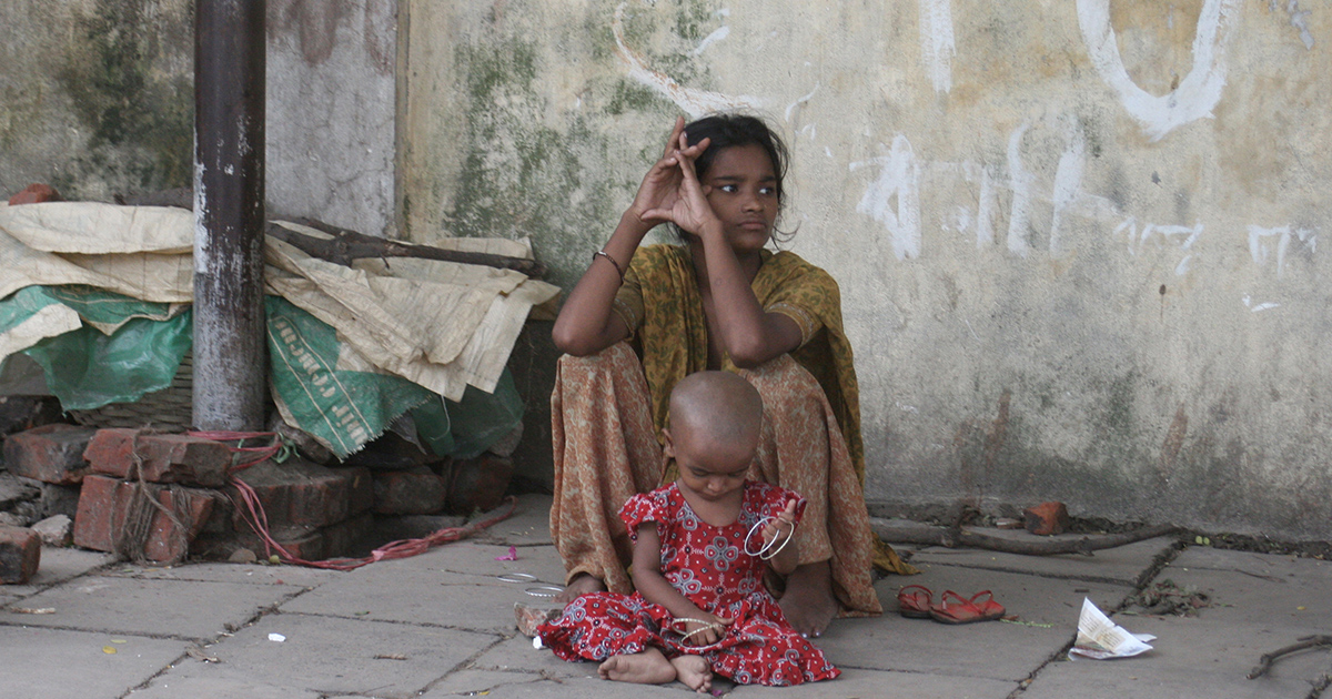 Woman and Child in Asia