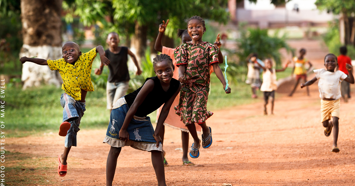 children jumping