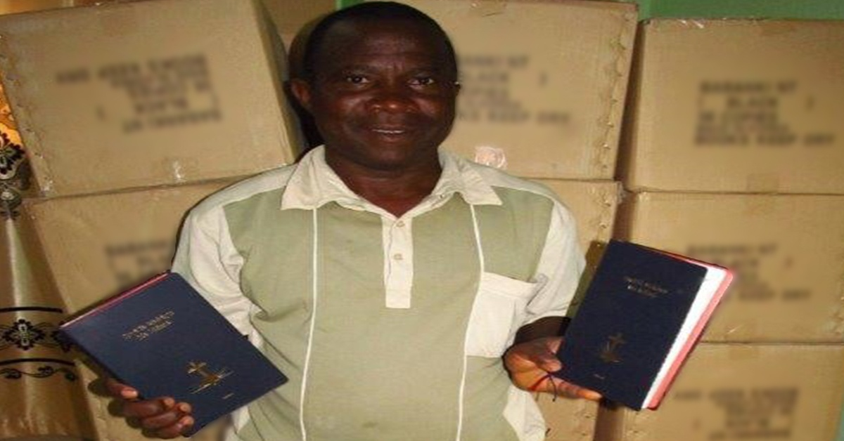 Moses holding Bibles