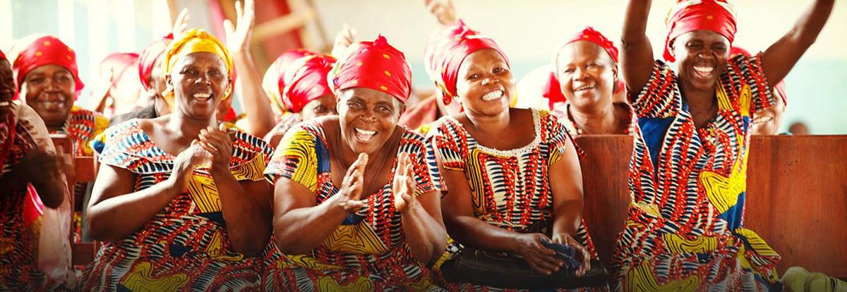 praising women in church - banner